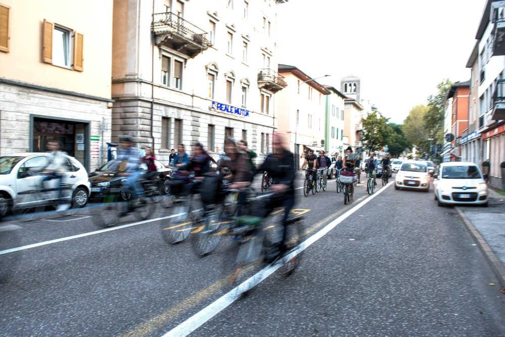Critical mass #cambiamolastrada, ottobre 2019 a Trento
