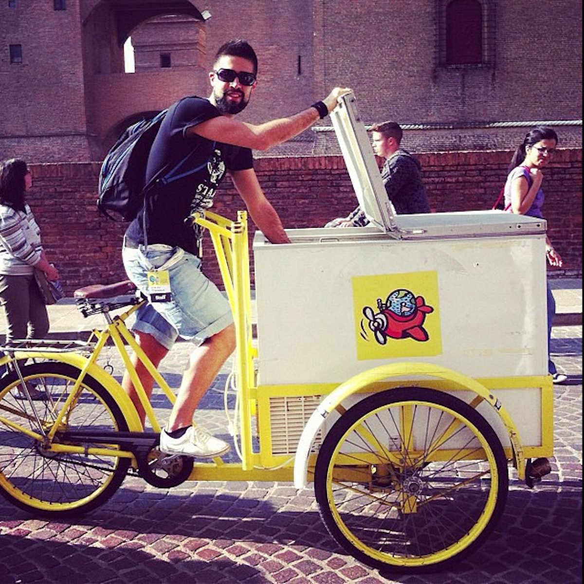 cargo bike a Ferrara (img: Mikael Colville-Andersen